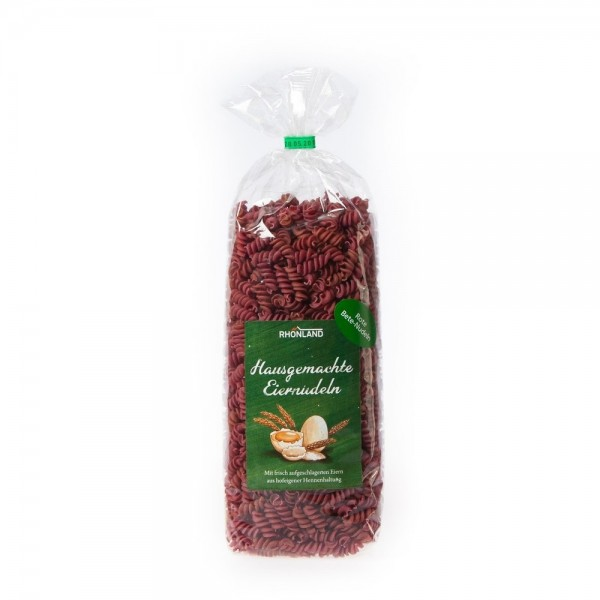 Rote-Beete-Nudeln (Spirelli)
